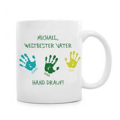 Tasse für Vater - Hand drauf