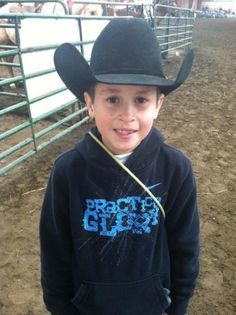 Kentucky Performance Products rider Caden and his horse Yogi participate in the KJRA rodeo in Liberty, KY.