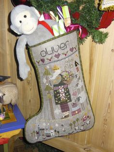 Oliver's Stocking by Shepherd' Bush - the latest stocking (2013) - I love these and have stitched a lot of them
