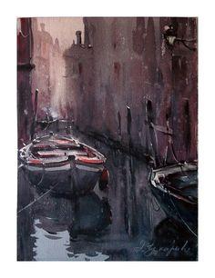 Dusan Djukaric     Canal in Venice, 28x38 cm