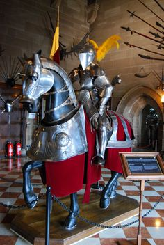 Dad loved to look at suits of armour, especially at Warwick castle