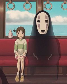 A viagem de Chihiro . Studio Ghibli Art, Studio Ghibli Movies, Hd Anime Wallpapers, Spirited Away, Cartoon Wallpaper, Cute Stickers, Aesthetic Anime, Cute Art, Manga