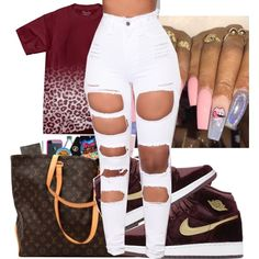 Jordan's 1 Fits by kisha1891010 on Polyvore featuring Amina and NIKE