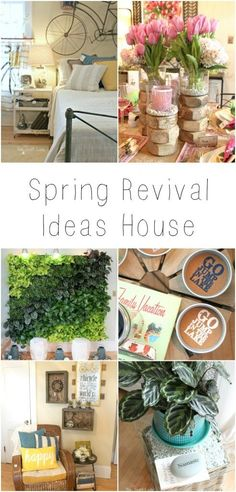 "Highlights from the Bachman's ""Spring Revival"" Ideas House - tons of DIY home decor inspiration!"