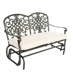 Hampton Bay Edington Patio Double Glider with Bare Cushion-131-012-DBL-GLDR-NF at The Home Depot