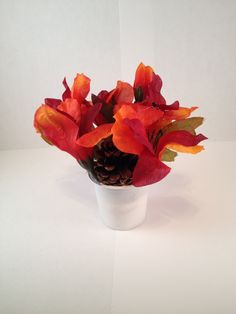 Autumn of Three K Cup Mini Floral Arrangement - 450 by EveryThingPineCone on Etsy