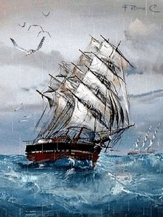 Skyrim Nexus - mods and community Foto Gif, Gif Photo, Gif Animé, Animated Gif, Beau Gif, Old Sailing Ships, Amazing Gifs, Thunder And Lightning, Animation