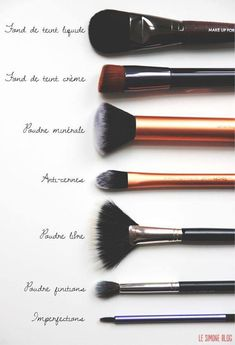 Beauty: how to use your different make-up brushes - Oh My Mag - - Beauté : comment utiliser vos différents pinceaux à maquillage Makeup brushes: which brush for which use? Makeup Guide, Makeup Tools, Makeup Brushes, Eye Makeup, Beauty Brushes, Makeup Artists, Prom Makeup, Makeup Geek, Hair Makeup
