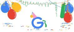 celebrates birthday with a Logo Google, Google Gif, Art Google, Google Images, Google Doodles, Birthday Logo, Birthday Doodle, 21st Birthday, Happy Birthday Google