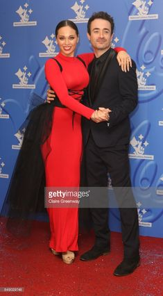 Dancer Katya Jones and actor Joe McFadden arriving at The National Lottery Awards 2017 at The London Studios on September 18, 2017 in London, England. The Awards celebrate the UK's favourite Lottery-funded projects and the show is to be broadcast on BBC One on September 27, 2017.