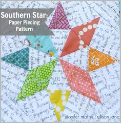 Southern Star Paper Piecing Pattern (free!) - Ellison Lane