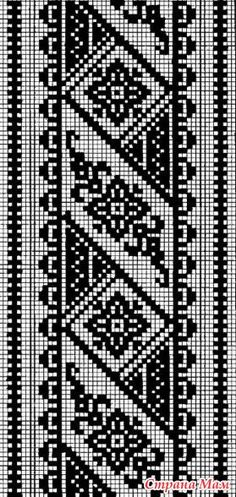 How to Crochet Wave Fan Edging Border Stitch - Crochet Ideas Cross Stitch Borders, Cross Stitch Flowers, Modern Cross Stitch, Cross Stitch Designs, Cross Stitching, Cross Stitch Patterns, Filet Crochet Charts, Crochet Borders, Knitting Charts