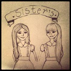 #sisters #pencil #sketch #doodle #illustration