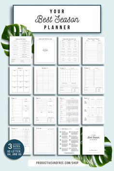 Your Best Season Planner Printable Planner Quarterly image 1 Routine Planner, Goals Planner, Blog Planner, Budget Planner, Planner Pages, Weekly Planner, Monthly Planner Printable, Exam Planner, College Planner