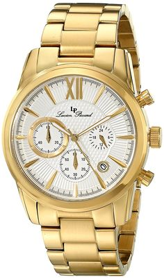 Lucien Piccard Men's LP-12356-YG-22S Mulhacen Analog Display Japanese Quartz Gold Watch -- Continue to the watch at the image link.