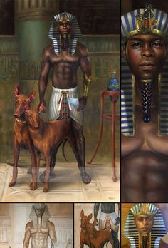 Anpu (Anubis) is a Kushite-Kemetic divinity symbolized by the canine (which includes wolfs, dogs, jackals, coyotes). African Culture, African History, African Empires, Egyptian Goddess, Egyptian Art, African American Art, African Art, Luxor, Kemet Egypt