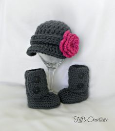 Perfect baby gift set  ankle booties and by creationsbytiff, $38.00