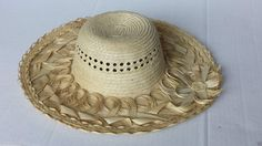 #women hat women straw hat size L (58) natural palm straw made in Guatemala (02) withing our EBAY store at  http://stores.ebay.com/esquirestore