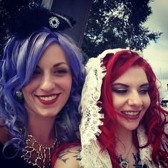 Colorful hair love.  I love this picture of us Scotia!!