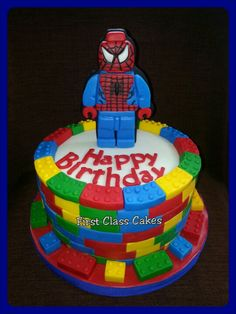 Lego Spiderman cake