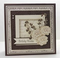 stampin up serene silhouettes card ideas | And from another angle so you can see the raised frame: