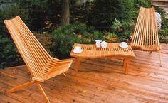 Folding Patio Chair - Cherry Wood Mayan Folding Chair