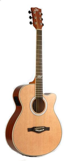 EKO Guitars 06217086 TRI Series Auditorium Cutaway Acoustic-Electric Guitar - Natural