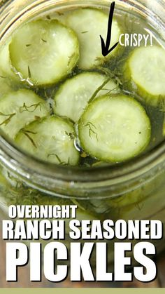 Homemade Refrigerator Pickles, Refrigerator Pickle Recipes, Homemade Pickles, Homemade Ranch, Small Batch Pickle Recipe, Easy Dill Pickle Recipe, Ranch Seasoning, Cucumber Recipes, Pickles