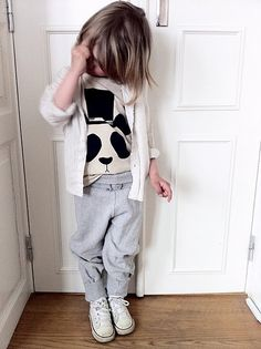 Super stylish in Mini Rodini panda tee!