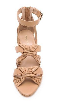 { Loeffler Randall  Alana Twist Wedge Sandals }