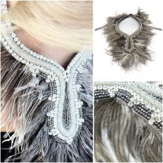 Crystal necklaces with feathers