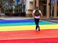 How will right wing wack jobs cross thecstreet!! lol...Rainbow crosswalks to be permanent in West Hollywood
