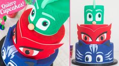 PASTEL PJ MASKS de FONDANT   Quiero Cupcakes! Kitchenaid Artisan, Los Pj Masks, Cupcakes, Fondant, Animation Film, Minions, Blog, Character, Youtube