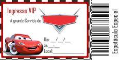 convite aniversario ingresso carros para imprimir grátis