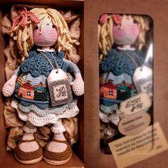 katxirula Crochet Doll Pattern, Crochet Dolls, Knit Crochet, Crochet Baby Toys, Amigurumi Tutorial, Knitted Animals, Stuffed Animal Patterns, Amigurumi Doll, Yarn Crafts