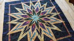Feathered Star, Quiltworx.com, Made by Karen Derrick, Taught by CI Jackie Kelso