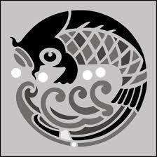 Japanese Embroidery Fish Japanese Embroidery Stencil Art Stencil Designs