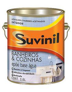 Para pintar os azulejos da cozinha ou banheiro: Suvinil Banheiro e Cozinhas. Produto resistente à limpeza, de ata durabilidade e antimofo. Na Darka tem!