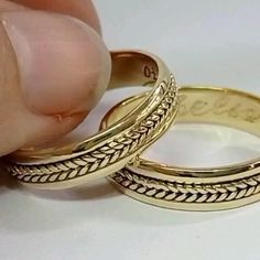 Mens Gold Rings, Gold Wedding Rings, Engagement Rings, Jewelry, Wedding Bands, Trillion Engagement Ring, October, Chains, Jewels