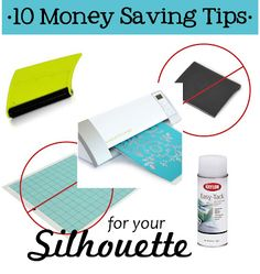 Moderne Typografie: Silhouette Cameo: 10 Money Saving Tips Plotter Silhouette Cameo, Silhouette Cutter, Silhouette School, Silhouette Cameo Machine, Silhouette Vinyl, Silhouette Files, Silhouette Design, Silhouette America, Silhouette Curio Projects