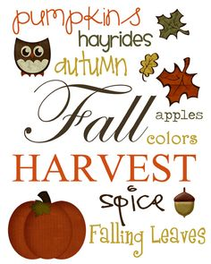 Subway Art, Fall and Autumn quote, Free Printables Fall Subway Art, Apple Coloring, Happy Fall Y'all, Holidays Halloween, Halloween Sayings, Fall Harvest, Harvest Time, Chalkboard Art, Thanksgiving Decorations