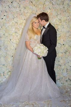 Meghan Trainor Wedding Dress Trumpet Style Wedding Dress, Retro Wedding Dresses, Second Hand Wedding Dresses, Celebrity Wedding Dresses, Red Bridesmaid Dresses, Celebrity Weddings, Princess Prom Dresses, Mermaid Prom Dresses, Meghan Trainor