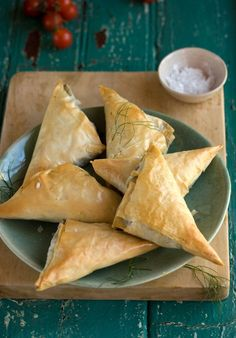 Mouthwatering Leek, Mushroom, & Parmesan Fillo Triangles by @drizzleanddip. Simple to make yet look so elegant, crispy, and delicious.
