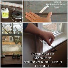 Resealable Magnetic Window Insulation Tutorial - The Homestead Survival - Homesteading