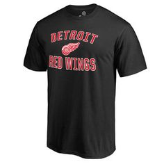 Detroit Red Wings Victory Arch Black T-Shirt