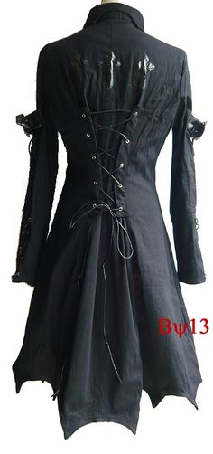 Cosplay Gothic Vampire SteamPunk Trench Coat Jacket L-XL by deathby13