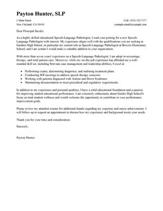 Cover letter for speech language pathologist assistant Study our Speech Therapist Cover Letter