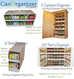 Rotating Storage Ideas | CanOrganizer is offering one lucky TidyMom reader a 4 packs of can ...