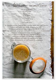 A day with V: Apple cider caramel sauce...quando lo zucchero ti profuma la giornata!