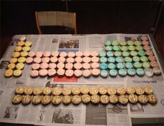 Edible Periodic Table - way too many cupcakes to bake and eat, but we could do this with something like sweet tarts and put the answer underneath. When you guess the element correctly, you get to eat it. . .? Or we could make them in sections each week or month. #chemistry #science #snack